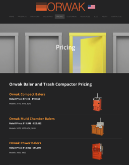 Pricing Page on OrwakBalers.com.png